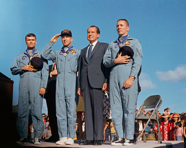 Apollo 13 crew members, NASA