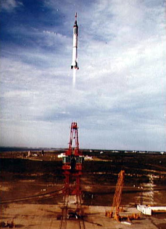 Mercury-Redstone 4 startas iš Canaveral iškyšulio Floridoje