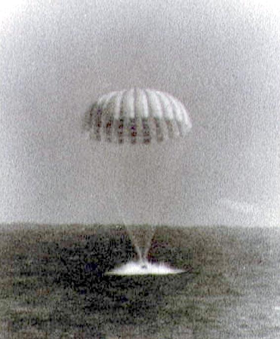 Erdvėlaivio Sigma 7 nusileidimas į Atlanto vandenyną